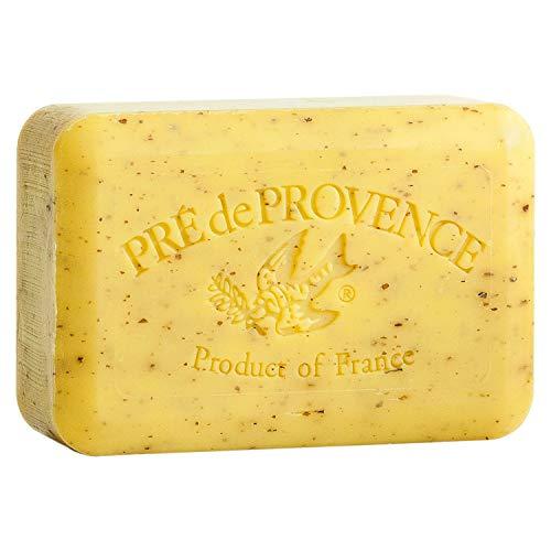 Pre de Provence Artisanal French Soap Bar Enriched with Shea Butter, Lemongrass, 250 Gram