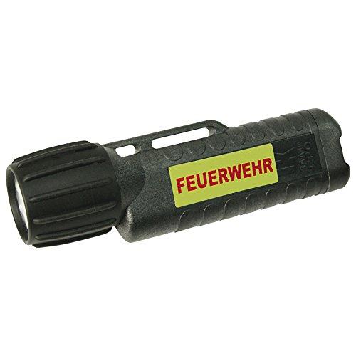 UK Lights Helmlampe 3AA eLED CPO, nachleuchtendem Streifen, Feuerwehr, TS/Heckschalter, schwarz 10010NF