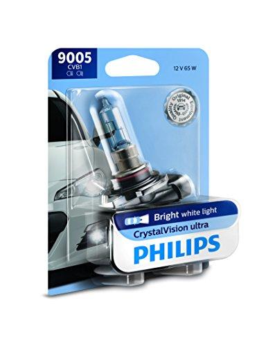 Philips 9005 CrystalVision Ultra Upgrade Bright White Headlight Bulb, 1 Pack