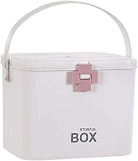 AINIYF Medicine Box First Aid Kit Family Equipment Medical Supplies Storage Box Large Capacity Double Layer Medical Equipment (Color : Pink)