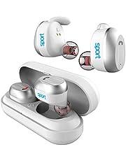 Elari NanoPods Sport, wodoodporne bezprzewodowe słuchawki z stereo Hi-Fi do muzyki/rozmów telefonicznych (Bluetooth 5.0) i magnetyczne etui do ładowania (białe)