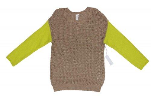 SI-IAE Mixed Waffle Sweater Twine/Pomme xsmall/small