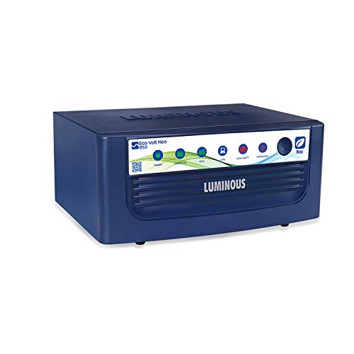 Luminous Eco Volt Neo 850 Sine Wave Inverter for Home, Office and Shops (Blue)