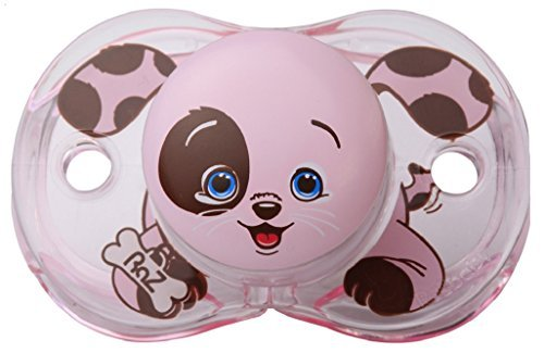 Razbaby Keep-It-Kleen Pacifier, Pink Puppy by Percy RazBaby