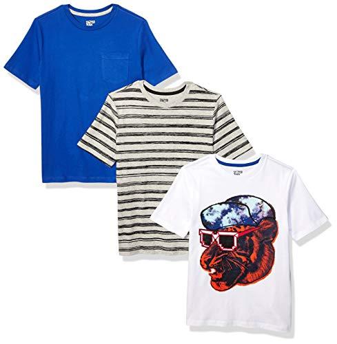 Amazon-Marke: Spotted Zebra T-Shirts, Kurzarm, für Jungen, 3er-Pack, Cool Cat, US 2T (EU 92-98)
