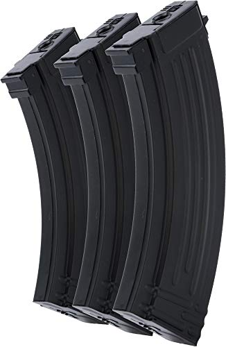 Evike CYMA/Matrix Hi-Cap Magazine for AK Series Airsoft AEG Rifle (Color: Black / 600rd / Set of 3)