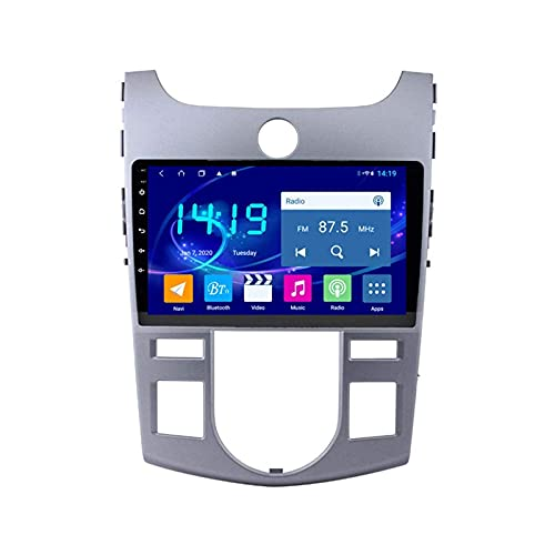 GPS Navigation Car Stereo para KIA Forte 2009-2014 Auto Multimedia Video Player Sat Nav FM Radio Receptor 1080P HD Pantalla táctil con WiFi Bluetooth MirrorLink DSP SWC USB,4 Core 4g+WiFi: 1+16gb