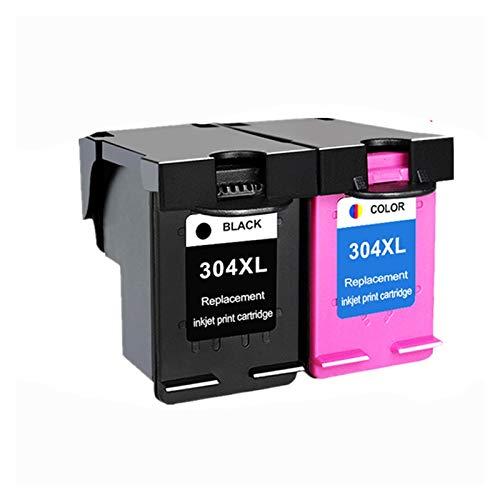 WENAN Cartuchos de la Impresora El Cartucho de Tinta 304xl versión es Adecuado para HP304 HP 304 XL Deskjet envidia 2620 2630 2632 5030 5020 5032 3720 3730 5010 Impresora Cartucho de Tinta