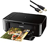 Canon Pixma MG3620 Wireless Inkjet All-in-One Printer - Print, Scan, and Copy Business Office Bundle - up to 4800 x 1200 Resolution - Auto Duplex, Mobile Device Printing - BROAGE 6 Feet Printer Cable