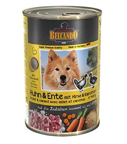 Belcando Nassfutter Hund Huhn und Ente Hirse und Karotten (Huhn & Ente, 6 x 400 g)