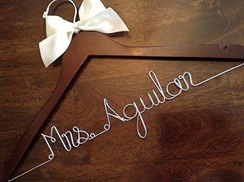 Qui556 HUGE SALE Gepersonaliseerde Hangers Bruid Bruidsjurk HangerBridal Gift Bruidsfeest GIFTS draad hanger trouwhanger