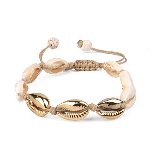 Seashell (Brown & Gold Bracelet)