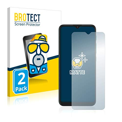 BROTECT 2X Entspiegelungs-Schutzfolie kompatibel mit Motorola Moto E7 Plus Bildschirmschutz-Folie Matt, Anti-Reflex, Anti-Fingerprint
