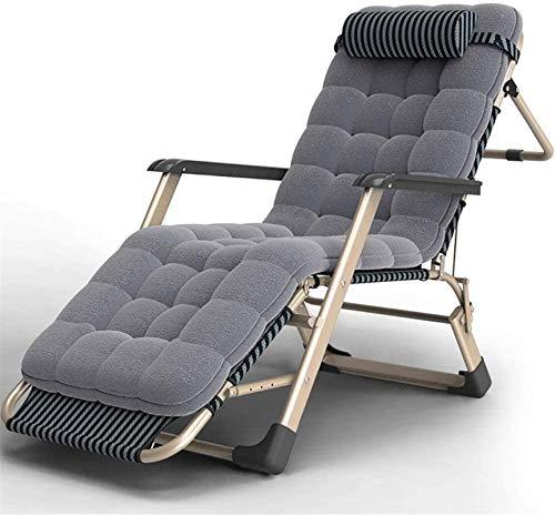 HUAQINEI Sillón reclinable Sillón reclinable portátil al Aire Libre Oficina en casa Pausa para el Almuerzo Camping Playa Tumbona-C (Color: A)