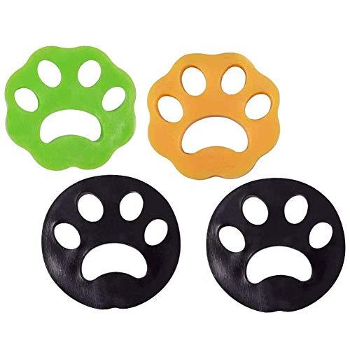 INTVN 4PCS Removedor de Pelo para Mascotas de lavandería - Reutilizable Quite el Pelo de los Gatos y los Perros en la Ropa, Herramienta de Limpieza del Cabello de Animales para Lavadora