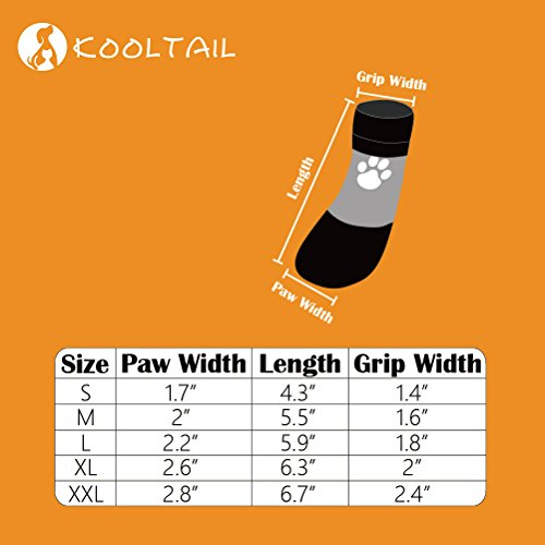 KOOLTAIL Dog Socks Anti Slip with Straps Traction