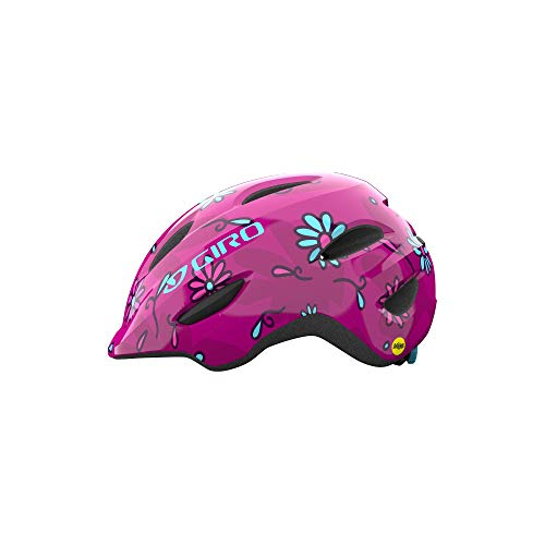 Giro Scamp MIPS Youth Recreational Bike Cycling Helmet - Small (49-53 cm), Pink Streets Sugar Daisies (2021)