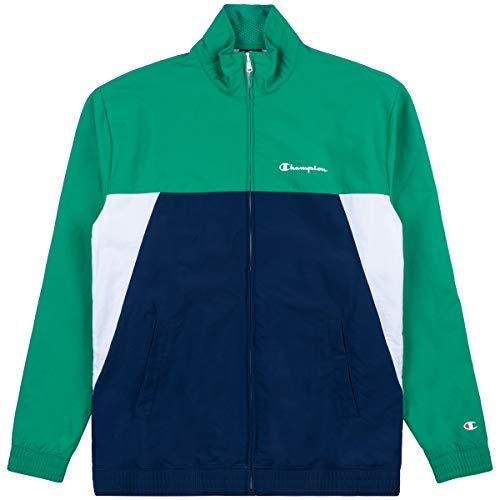 Champion Herren Trainingsjacke Full Zip Sweatshirt 214238, Farbe:CGL/mnb/wht, Größe:XL