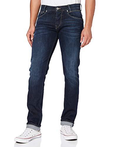 Pepe Jeans Spike Jeans, Azul (Streaky Stretch Dk 000), 33W / 32L para Hombre