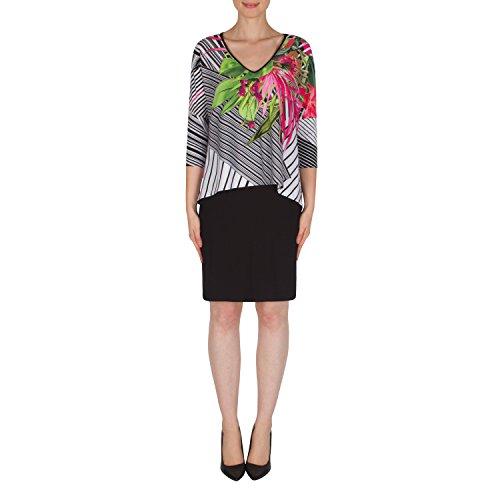 Joseph Ribkoff Mock Two Piece Popover Dress Style 182692 Size 20