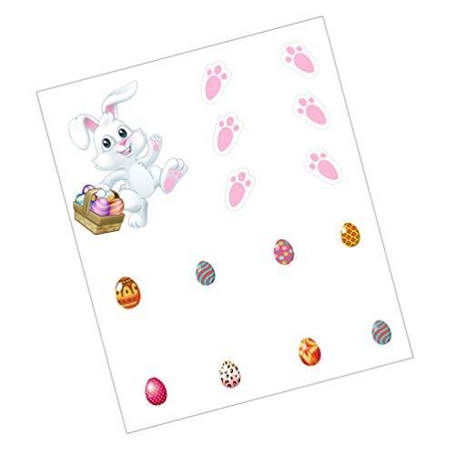Homoyoyo 1 Juego de Pascua Nevera Imán Pegatina Conejito de Pascua Huevos Etiqueta de La Pared Pegatinas Creativas para Nevera Decoración de Pascua