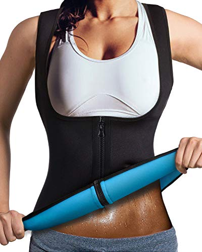 DoLoveY Women Neoprene Sauna Vest Sweat Weight Loss Corset Hot Body Shaper with Zipper