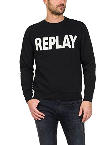Replay Herren M3666 .000.21842 T-Shirt, Schwarz (Black 98), Medium