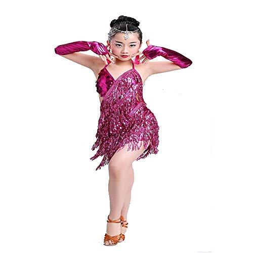 Mädchen Tanzen Kleidung Contemporary Fashion Latin Bühnentanz-Kostüm des Mädchens mit Pailletten Quasten-Tanz-Kleid ist sehr geeignet for Tanzkurse und Wettbewerbe Mädchen Röcke