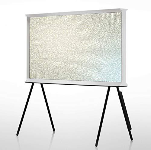 Samsung LS01R The Serif 123 cm (49 Zoll) QLED Lifestyle Fernseher (Serif Ambient Mode, Ultra HD, HDR, Smart TV, Keramikweiß) [Modelljahr 2019]