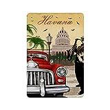 Cartel de pared de hojalata Retro de La Habana (22), cartel de pared de metal de hierro, decoración de pared de aluminio, placa, decoración, Cafe Bar, 20x30cm