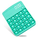 Calculator Push Bubble Popper Fidget Toy, Silicone Calculator Squeeze Sensory Pop Toys, Anti-Anxiety Stress Relief Toys for Autism ADHD Special Needs Early Educational Toddler Kids Adults (Green)