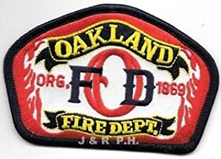 "Oakland Fire Dept. org.-1869, California (4"" x 2.75"" Size) fire Patch by HighQ Store"