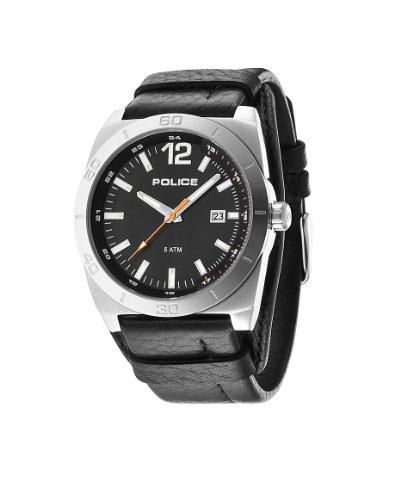 INTELIHANCE. 14107JS/02 - Reloj de Cuarzo para Hombre, con Correa de Cuero, Color Negro