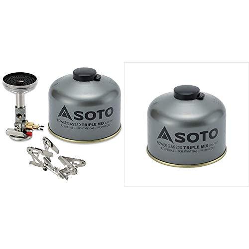 ソト(SOTO) マイクロレギュレーターストーブ ウインドマスター SOD-310/SOD-460/SOD-725T キャンプストーブ OD缶用 シングルバーナー キャンプ ガス バーナー 火力が強い ソロキャンプ ツーリング BBQ 登山アウトドア 収納