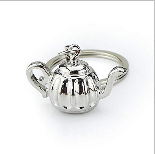 nobrand Creative Mini 3D Kaffee Schlüsselbund Küchengeschirr Metall Schlüsselanhänger Kaffeemahlwerkzeug, Kaffeemaschinengriff, Mokka, Schlüsselbund GIF