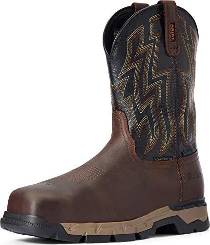 ARIAT Rebar Flex Western H20 Comp Toe Dark Brown/Black 10 EE - Wide