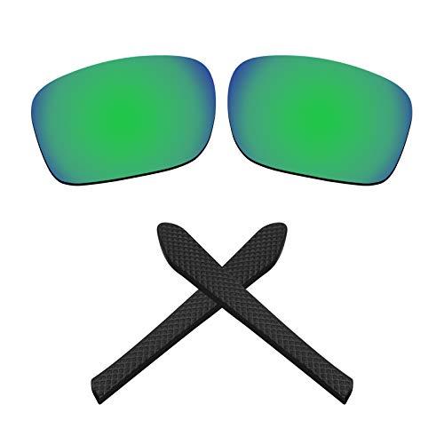 Montoz Lentes de repuesto y almohadillas para gafas de sol Oakley Jupiter Squared OO9135 (polarizadas en verde zafiro)