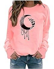 ReooLy Winter Tops Casuales para Mujer Sudadera con Estampado de Girasol para Mujer Blusa Camiseta Suéter