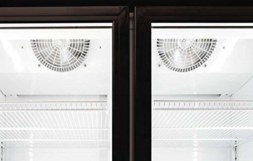 Procool Refrigeration Glass 2 Door Upright Display Beverage Cooler Merchandiser; 35 Cubic Ft., 45
