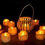 innislink LED Velas, Velas LED sin Llama con Temporizador 12pcs Velas FLAC Núcleo eléctrica Velas batería Decoración para árbol de Navidad, Pascua, Bodas y Fiestas–Blanco