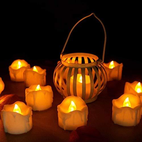 innislink LED Candele, Candele Senza Fiamma a LED con Funzione Timer 12pcs lumini FLAC Nucleo Candela elettrica a Batteria luci Decorazione per Albero di Natale Pasqua Festa di Matrimonio–Bianco