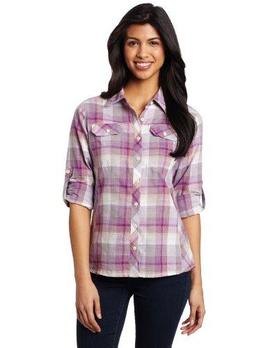 Columbia : L - Camiseta/Camisa Deportivas para Mujer, Color Violeta, Talla FR : L (Taille Fabricant: L)