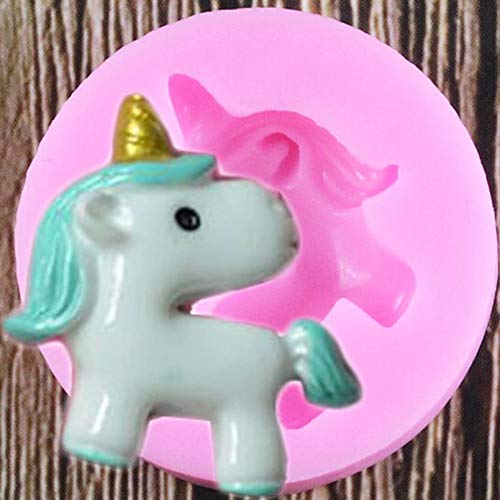 RTNN 3D Unicorn Silicone Mold Diy Cupcake Topper Fondant Molds Baby Birthday Cake Decorating Tools Chocolate Candy Clay Moulds