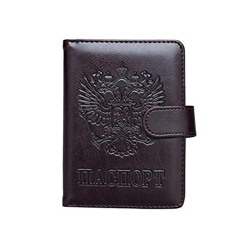 Russische Leder blockierende Passhalter Brieftasche Abdeckung Reiseveranstalter Fall mit Kreditkarten-Slots-Kaffee