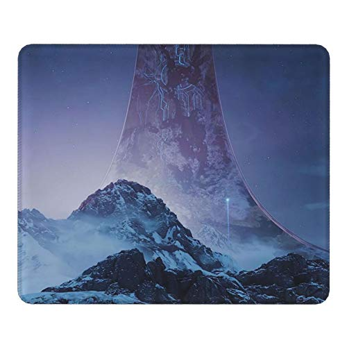 Akeanu Halo Infinite Game Square Mouse Pad Mouse Mat Gaming Mouse Pad Mouse Mat for Work, Game, Home,Office Supplies 11.8x9.8x0.12inch
