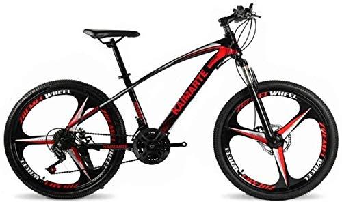 giyiohok Mountainbike Unisex Mountainbike 21/24/27 Geschwindigkeit High-Carbon Stahlrahmen 26 Zoll Räder mit Scheibenbremsen und Federgabel Rot-24 Geschwindigkeit_rot
