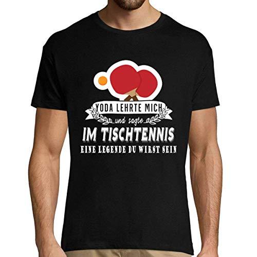 Tischtennis Herren T-Shirt | Yoda lehrte Mich und sagteim Zumba eine Legende du wirst Sein M