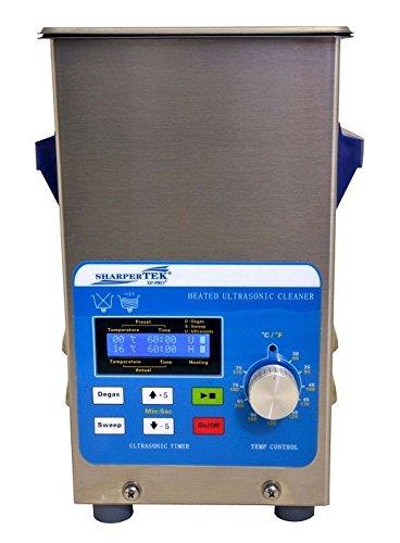 "SHARPTERTEK Ultrasonic Cleaner by Sharpertek Heated with Sweep Tank Size 6"" X 5.25"" X 6"" (L"
