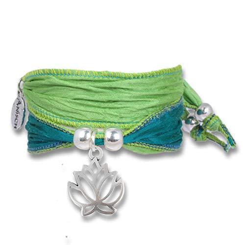 Anisch de la Cara Mujeres Pulsera Verde Lima - Simbolaranda De Lotus De La Fe Happy Symbols - Arte no 90123-g