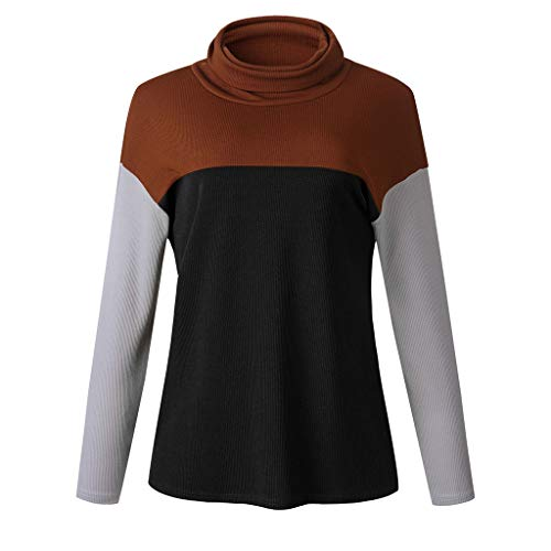 Great Features Of NANTE Top Loose Women's Blouse Knitting Patchwork Long Sleeve T-Shirt Sweatshirt Pullover Shirts Womens Tops Shirt Costume (Black, L)